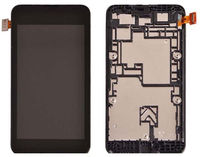 Original 4 inches LCD For Nokia Lumia 530 N530 Black lcd display touch screen digitizer glass assembly + Bezel Frame