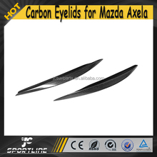 Auto Car Carbon Front Side Eyebrows for Mazda 3 AXELA 13-15