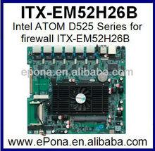 Intel ATOM D525 Series for firewall ITX-EM52H26B