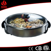Cookware Electric Party Pan with non stick coating surface and die casting, small electric frying pan