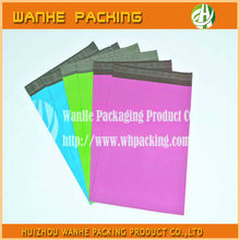 Popular custom plastic delivery bag colored printed with self adhesive strip--HZWHB826