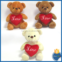 13cm high quality animal toys teddy bears for Valentine's gift with sound