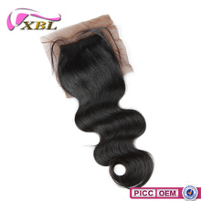 Brown Silk Close To Skin Color Virgin Indian Hair Silk Base Closures