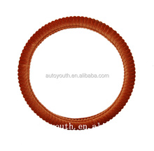 PA100046 Factory wholesale Yellow color shrink car steering wheel covers