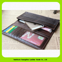 Hot selling mens leather wallets 2015 mens wallets with coin pocket fashion travel phone handbags