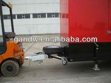 Spainish fechado reboque de carga para o gerador