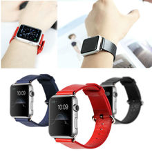 Rock leather watchband for apple watch,Rock leather watch bands for apple 42mm adapter