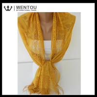 Fashion Magnetic Honey Mustard Tulle Scarf