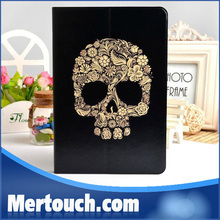 for ipad mini skull case kool and soft flip leather case