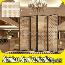 2015 New Disign Stainless Steel Sliding Folding Partition