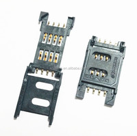 8 PINS sim card connector Push Push SIM Card socket