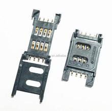 8 PINS sim card connector Push Push SIM Card socket