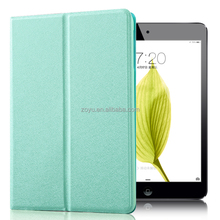 pu transformative cover for ipad mini 3 case triple fold PU leather cases with semitransparent back shell