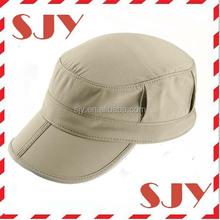 100%polyester dri fit flat top soft foldable baseball cap