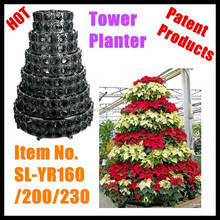 SOL Iron flower pot plastic watering metal flower pot SL-YR160 VERTICAL GARDEN Patent Products