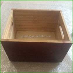 Colorful Paulownia Wood Crates For Shipping Bottles, Wooden Wine Crate