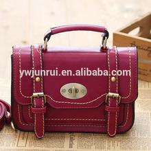 2014 china alibaba rojo bolsa de hombro para las niñas