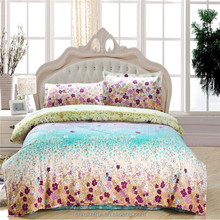2015 new design bed sheet wholesale many little flowers printed fresh style bedding set