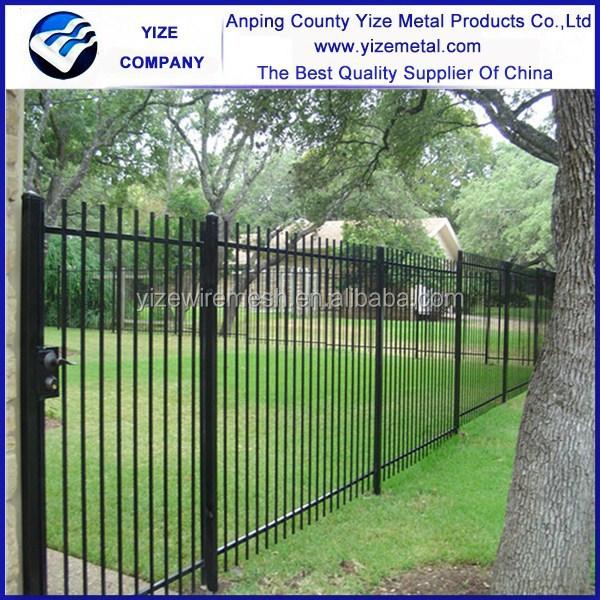 Cerca de ferro forjado decorativo Industrial grades de ferro forjado / modelos de portões e cerca de ferro