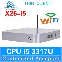 Hot sale Linux Micro Computer mini pc i5 5200 Barebone PC X26-I5 3317U Support full screen movies 4G RAM 64G SSD