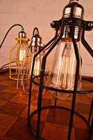Popular Aged Cage Lighting Industrial Pendant Lights With Edison Bulb Pendant Lighting