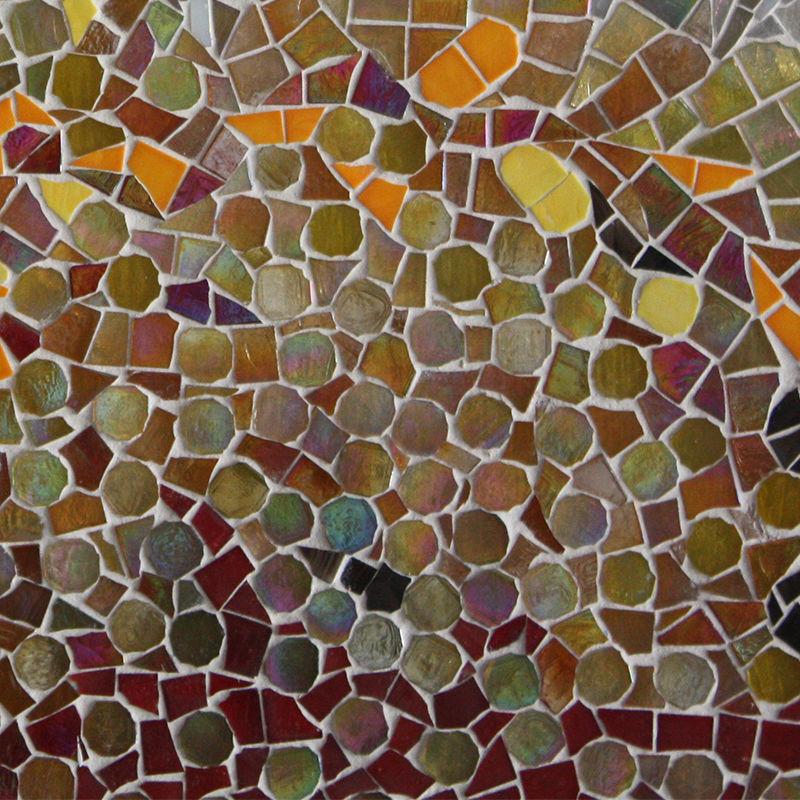 Manchado de color del mosaico de vidrio artesanal arte - Pintura para mosaicos piso ...