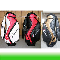 Golf Cart bag with Pu leather and OEM your logo