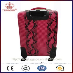 pu covering materials new style trolley luggage