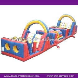 Stock price good quality inflatable floating obstacle,giant inflatable obstacle course