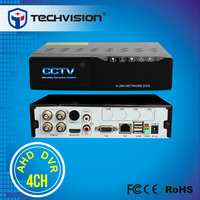 4 channel mini AHD DVR video recorder VGA/HDMI video out touch panel DVR
