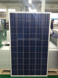 Polycrystalline Silicon Material and 1640*990*35mm Size 250 watt photovoltaic solar panel