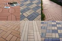 wood plastic composite interlocking outdoor tile