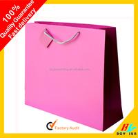 Promotion Cutom luxury big paper gift bag Handmade Glossy Art Paper bag
