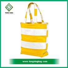 2015 colorful 12oz Stripe Canvas Beach Tote Shopping Bag