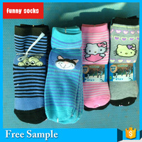 newest style Girls Lovely 100% cotton Terry Socks With Cartoon