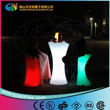 on promotion LED event rental wholesale illuminated light wedding coffee table bar table
