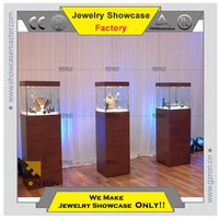 Modern jewelry display showcase Pedestal showcase cabinet stand for jewelry store