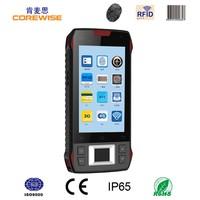 "Android quad core rugged 4.3"" mobile pda wifi 1d 2d barocde scanner fingerprint smartphone rfid reader"