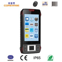 "Android quad core rugged 4.3"" mobile pda wifi 1d 2d barocde scanner fingerprint smartphone rfid reader"