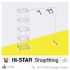 Retail clothes rack shop fittings for garment shop interior design
