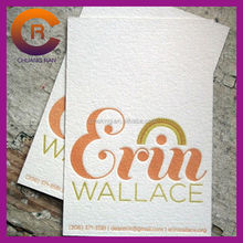 Red hot stamping logo customize art paper brand name card
