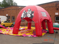 Inflatable tents with air blower