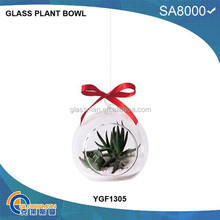 cute glass with one hole flower plant hanging vase YGF1305