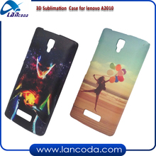 White Blank 3d Sublimation Back Cover Case for Lenovo A2010