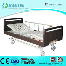 DW-BD186 medline semi electric hospital bed qualified manual lift nursing bed with two functions for medical equipment
