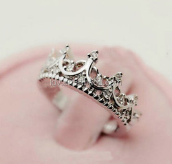 Fashion crown shape crystal jewelry 18K real gold plated ring made with genuine Austrian crystal ring