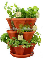 plastic stackable planter pots with Patented