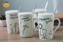 Factory Prices Logo printing Starbucks Ceramic white porcelain cup