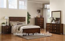 Bayfield dormitorio completo grupo Panel cama con Birch Wood Veneer AS-B16