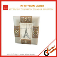 Crystal Glass Two Sides Photo Frame